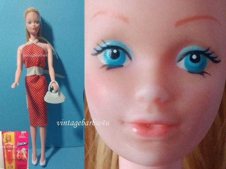 Vintage Canadian/European Barbie Doll 7382 Steffie w Superstar Sheath Dress 1465 #Mattel #DollswithClothingAccessories