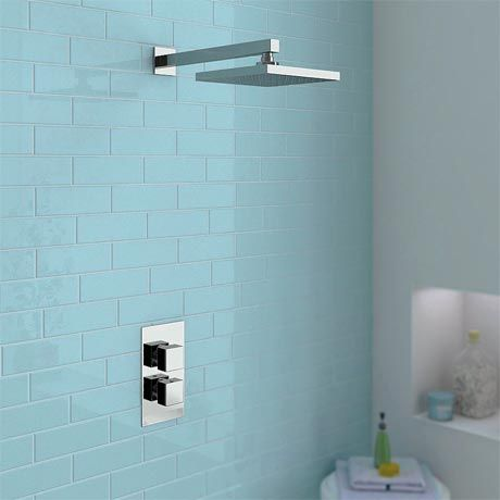 Milan Square Shower Package with Concealed Valve & Head