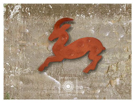Broche, broche animal sauvage, broche chapeau, broche bijoux animaux, broche de chèvre, chèvre de montagne badge broche, broche insigne de chèvre de montagne.
