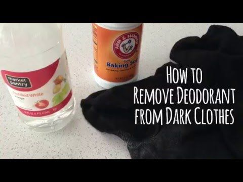Remove deodorant build up from dark clothing