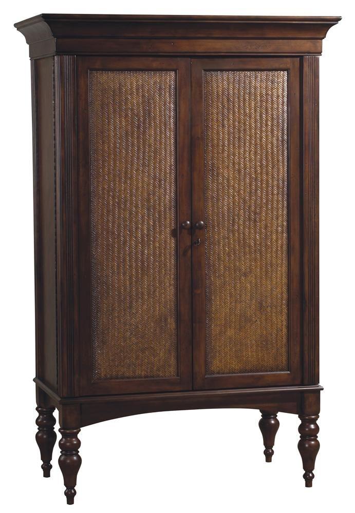 Cherry Hill Wine and Spirits Cabinet w Locking Cane Doors