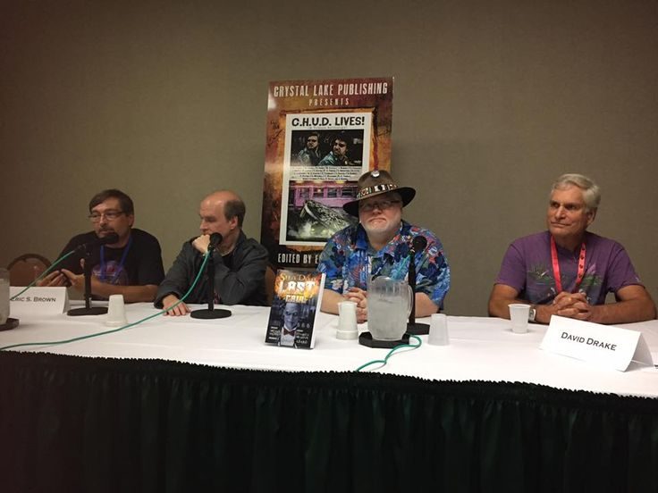 C.H.U.D LIVES! contributors, Michael H Hanson, Eric S Brown, David Drake and Martin Powell at the recent C.H.U.D panel.