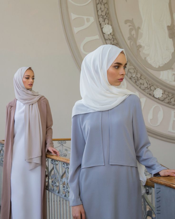INAYAH | Seasonal Spring hues and high-fashion styling. There are new SS16 pieces online and in-store! Come and visit us at out pop-up! We look forward to meeting you! - Cloud Textured Layered Midi + Off-White Maxi Georgette Hijab - www.inayah.co