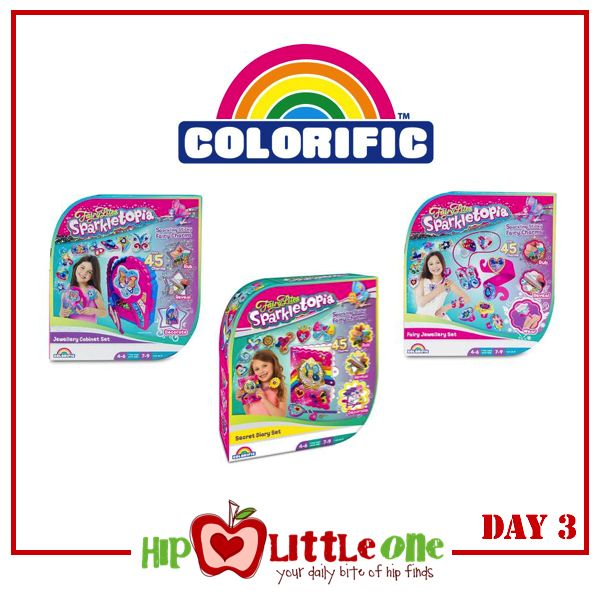 Win 1 of 5 FairyLites Sparkletopia packs (RRP $24.99, choose from Fairy Jewellery Set, Jewellery Cabinet Set and Secret Diary Set)