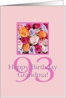93rd birthday Grandma, colorful rose bouquet Card by Greeting Card Universe. $3.00. 5 x 7 inch premium quality folded paper greeting card. Find Flowers & Garden cards for everyone on your list at Greeting Card Universe. Flowers & Garden cards are always more memorable when they are sent the old-fashioned way. Let Greeting Card Universe help you find the best Flowers & Garden card this year. This paper card includes the following themes: photo, photography, and stud...