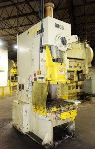 110 Ton Capacity Aida Single-Point Gap Frame Press For Sale