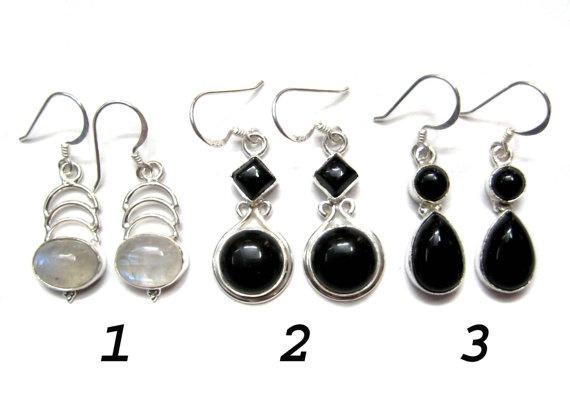 925 Sterling Silver Handmade Earring pair  Semi by finegemstone, $35.00
