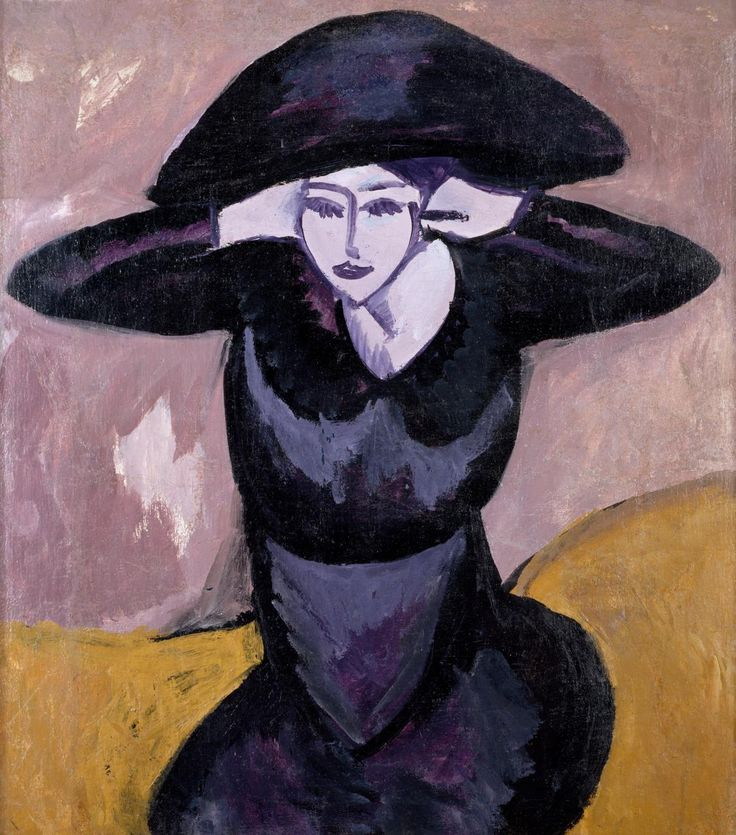 Ernst Ludwig Kirchner  German 1880-1938 Woman in a hat 1911