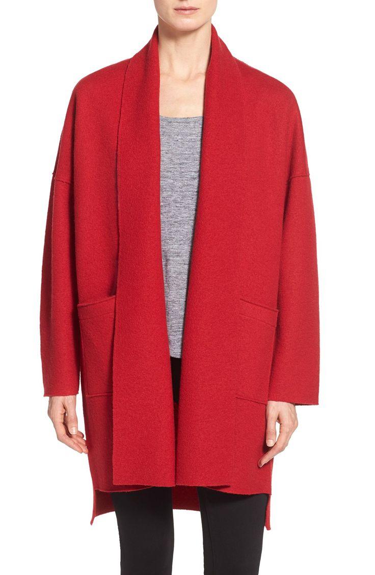 Eileen Fisher Boiled Wool Kimono Coat (Regular & Petite