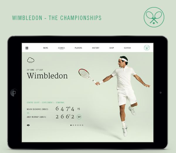 Wimbledon iPad App on Behance