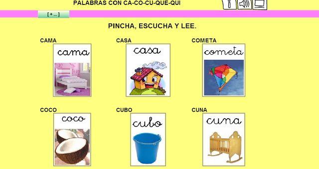 Maestra de Primaria: Juegos on line para trabajar CA, CO, CU, QUE, QUI