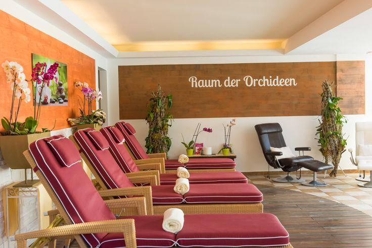 """Ruheraum """"Raum der Orchideen"""" in der Wellness-Oase - www.almrausch.co.at"""