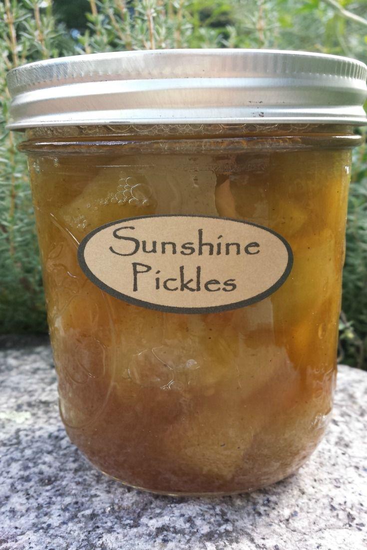 Sweet Sunshine Pickles