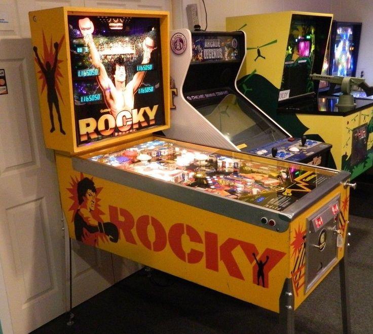 1982 Gottlieb Rocky Pinball Machine Watch Feature Video