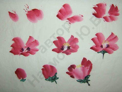 """Камелии, или """"цветок горного чая"""" - излюбленный сюжет для гунбистов. Но и Ци Байши этот цветок любил:) Камелии сейчас у нас тут цветут, сегодня распустились и белые.…"""