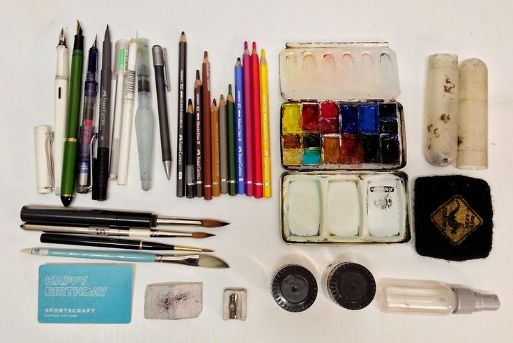 A look at our own Liz Steel's current sketching tools!