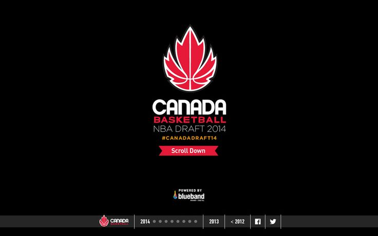 Cool website with zoom-in scrolling effect: Canada Basketball NBA Draft 2014 - http://webinspiration.gallery/design/canada-basketball-nba-draft-2014/ #webdesign #inspiration