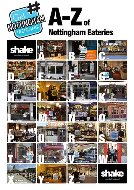 A-Z Places to Eat by Shake Social, via Flickr