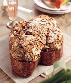 Italian Easter Bread Recipe (Bon Appetit) | These traditional holiday loaves are made in several easy steps over about 18 hours. We recommend doing steps one through four on the first day, since step four includes an eight- to ten-hour rising that, ideally, could be done overnight. Then finish the next day. You can use two buttered and floured nine-inch-diameter springform pans instead of the dove-shaped paper molds.