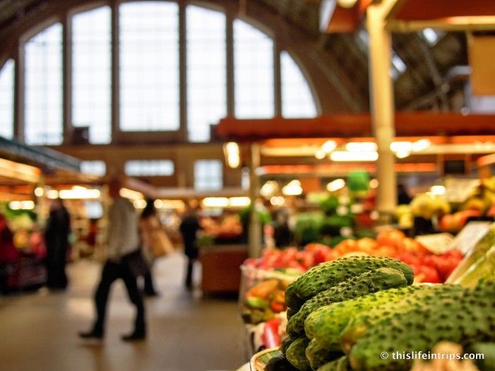 Fresh products at Riga Central Market.