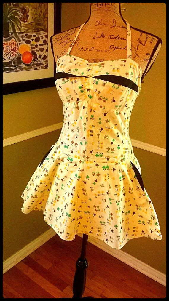 Vintage Swimsuit/ 1950's/ swimskirt/ 50's bathing by PussycatAlice, $158.00