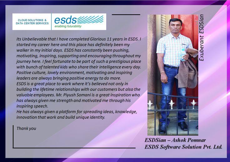 Meet Exuberant ESDSian – Ashok Pomnar #Success #EmployeeSatisfaction #JobSatisfaction