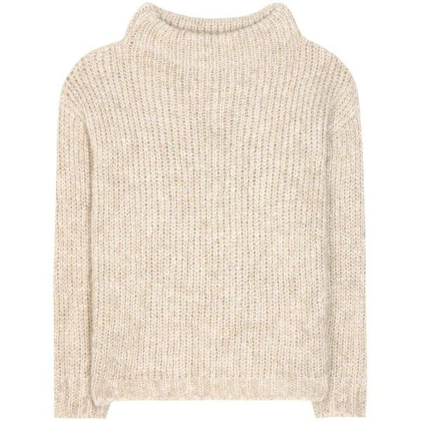Tom Ford Mohair and Wool-Blend Sweater (46.970 RUB) ❤ liked on Polyvore featuring tops, sweaters, shirts, jumper, beige, mohair sweater, beige top, shirt sweater, tom ford and shirt top