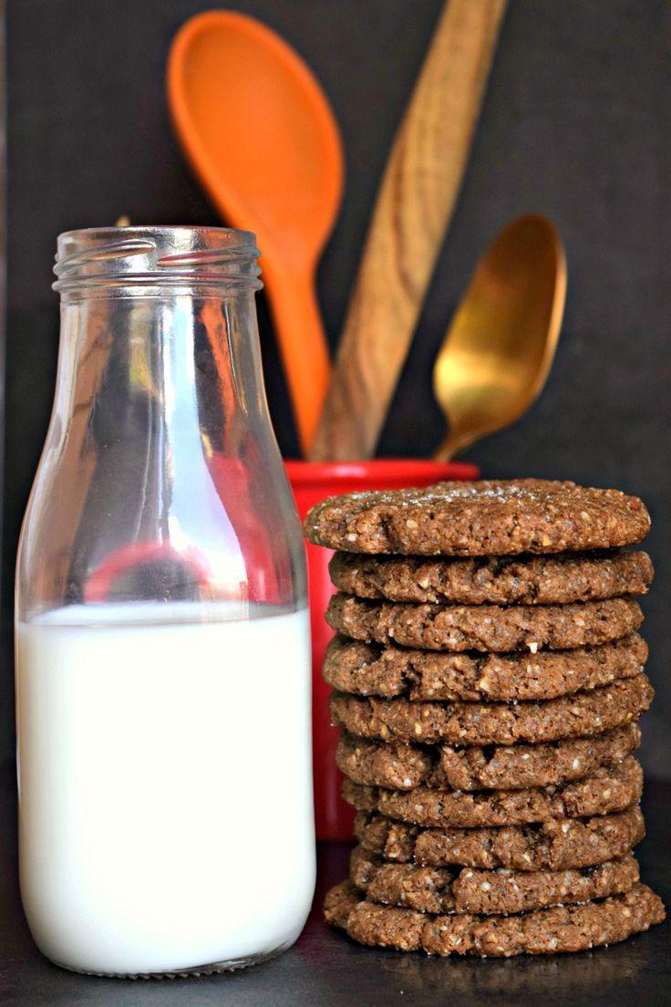 Vegetarian Eggless recipe - Almond Butter Oats Cookies Dessert. A Power Breakfast recipe. No flour needed.