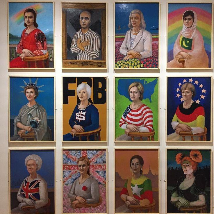 東京ステーションギャラリーのパロディ展も面白かったです写真はモナリザのパロディ集レオヤマガタさんの作品入口すぐのこれは序の口だった #1日1アート #パロディ #art #everydayart #parody #LeoYamagata #MonaLisa