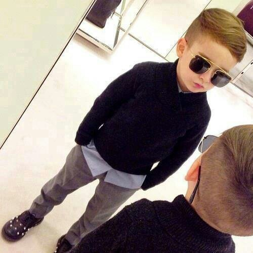 I like this but I'm sure ol' Davy wouldn't go along with it for Danner! Danner has gorgeous hair for a boy, I think he could totally rock this look.