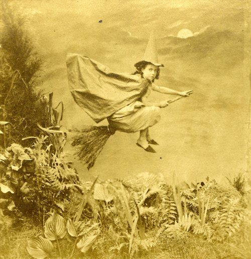 Fabulous Vintage photo - Little Witch, 1890s