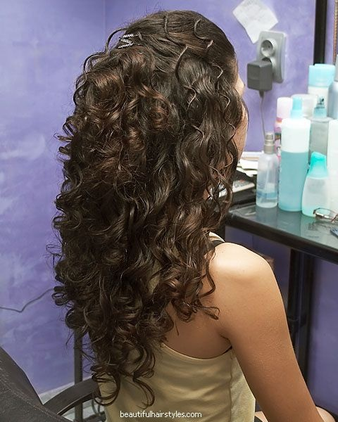 Sensational 1000 Images About Curly Hair Half Updos On Pinterest Updo Short Hairstyles Gunalazisus