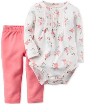 Carter's Baby Girls' 2-Piece Bodysuit & Pants Set