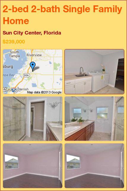 2-bed 2-bath Single Family Home in Sun City Center, Florida ►$239,000 #PropertyForSale #RealEstate #Florida http://florida-magic.com/properties/6651-single-family-home-for-sale-in-sun-city-center-florida-with-2-bedroom-2-bathroom