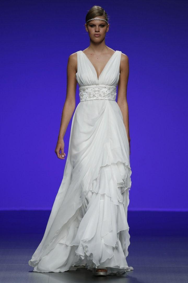 Bonito Vestido De Novia De Peonía De Monique Lhuillier Ornamento ...