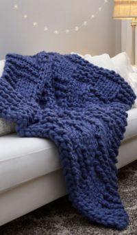Basketweave Chunky Knit Blanket Pattern Knitted Blankets