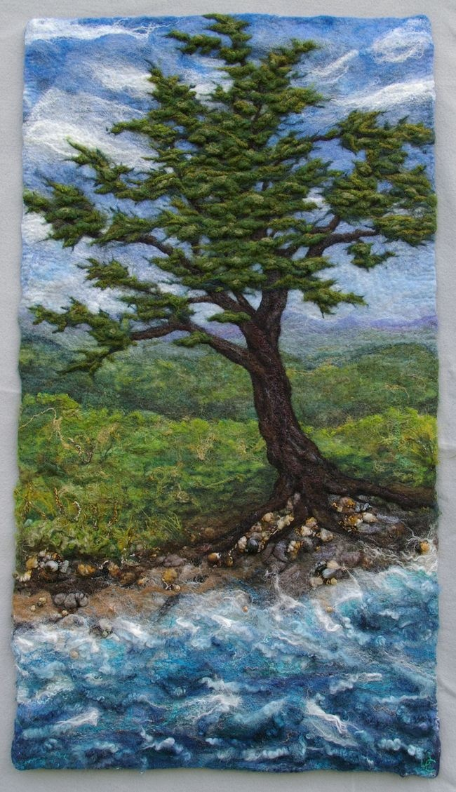 Felted landscape -- gorgeous!