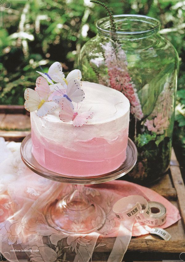 dustjacket attic: The Enchanted Wood (part 2) - photo from Donna Hay Magazine - Rainbow Butterfly Cake