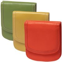 The Taxi Wallet® Monterey Series. Glazed Italian-finish cowhide in a beautiful palette