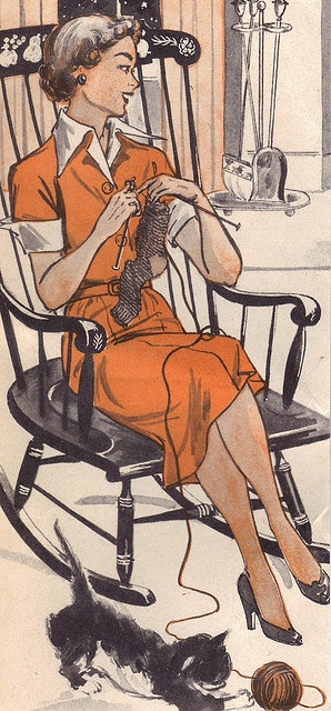 This is what I look like when I'm knitting (not)