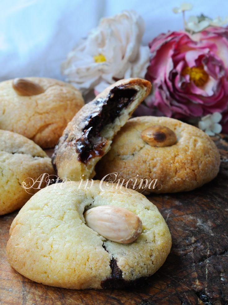 Biscotti ripieni alla nutella ricetta veloce vickyart arte in cucina