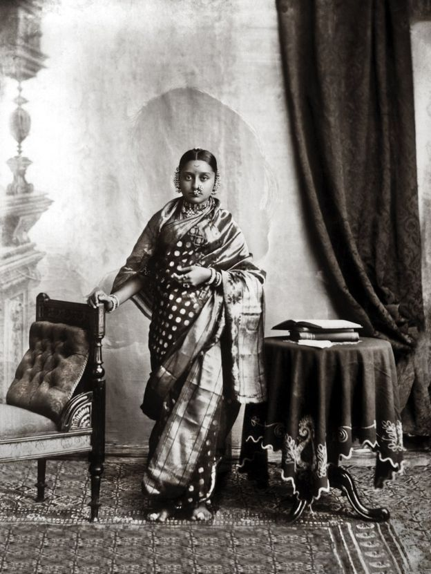 Maharani Image caption Maharani Chimnabai II of Baroda, also known as Shrimant Gajrabai Ghatge of Dewas Senior. Photographed by Lala Deen Dayal in 1891. Courtesy MAP/Tasveer