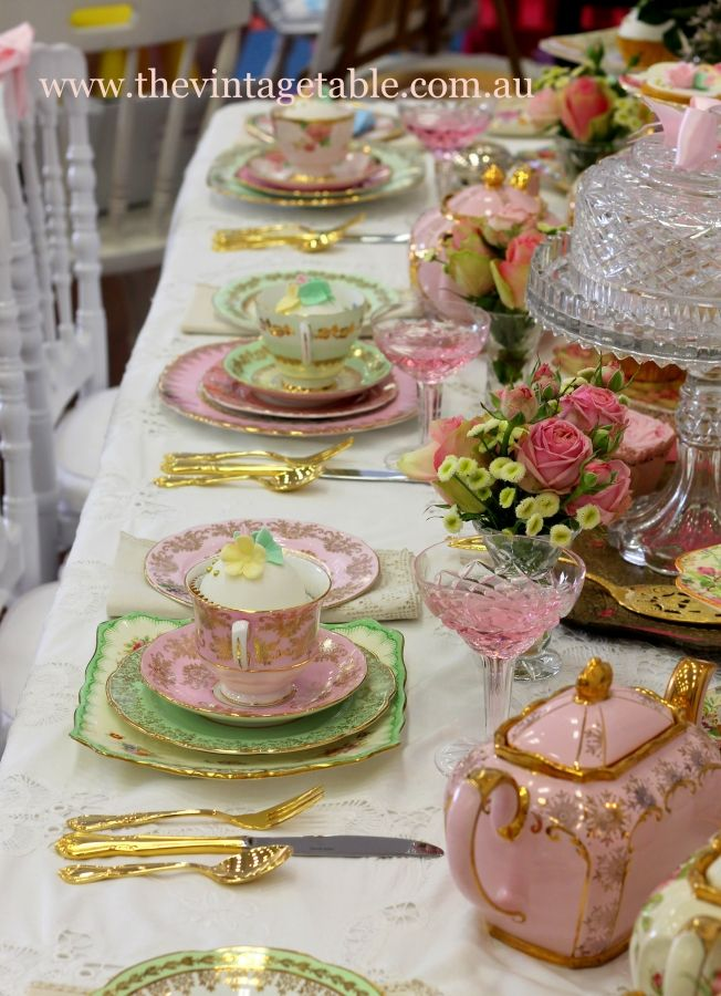 Perth, Western Australia, Australia, Vintage High Tea.com.au An beautiful array of vintage crockery to hire for your use in your home to enjoy a wonderful tea of times past with your family and friends. JH
