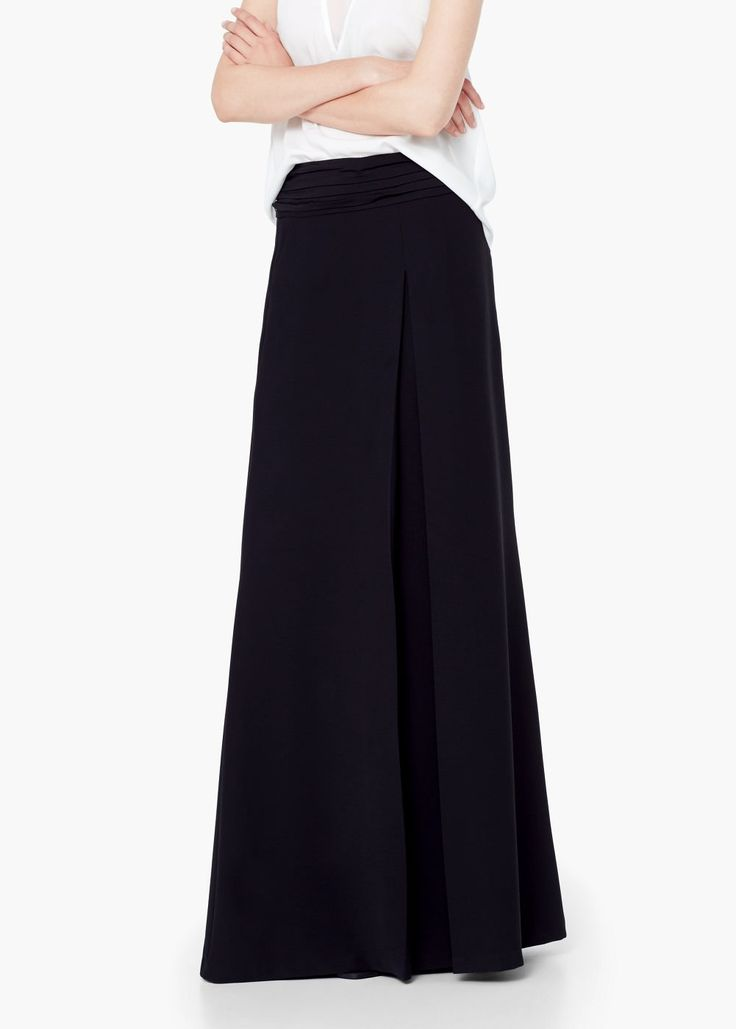 Dlouhá sukně s plisováním - Sukně for Žena   MANGO