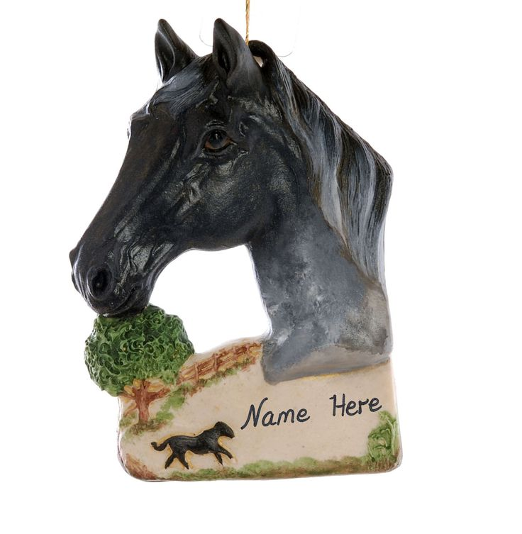 Horse Christmas ornament - beautiful blue roan horse ornament personalized with name or phrase of your choice - handmade in the USA (280) by Christmaskeeper on Etsy