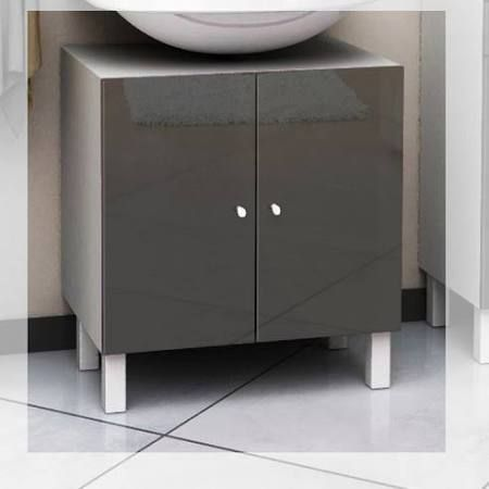 mirrored under sink cabinet - Google Search