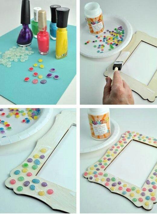 M s de 1000 ideas sobre portaretratos para ni os en - Como decorar un marco de fotos ...