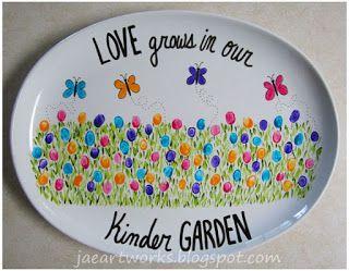 """Love is grown in our Kinder GARDEN""   jaeartworks: April 2013"