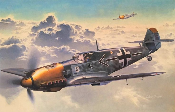 Messerschmitt Bf 109E-4 Adolf Galland by Shigeo Koike