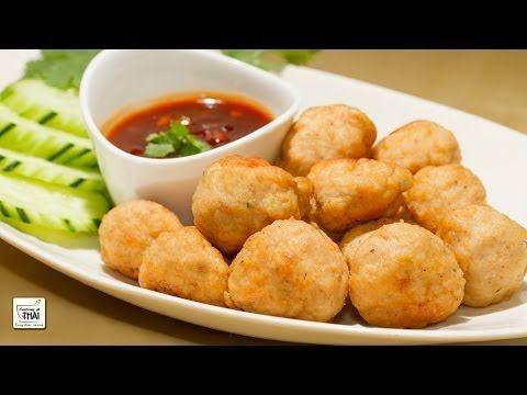 Albóndigas de cerdo fritas con salsa de tamarindo - La cocina tailandesa   Cocino Thai